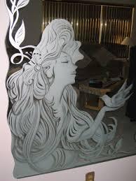 etched mirror glass etching stencils