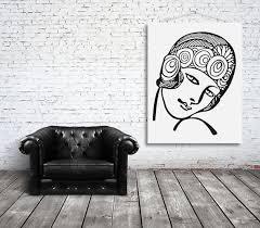 Art Deco Young Woman Girl Flapper 1920s Fashion Interior Design Wall Art Home Decor Sticker Decal Sticke Interior Design Wall Art Interior Wall Design Art Deco