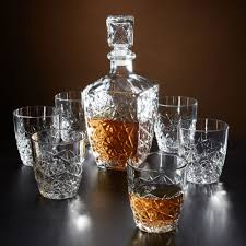 marquise cut whiskey decanter and