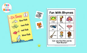 fish two fish rhyming words for kids
