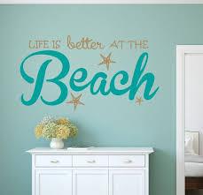 Life Is Better Beach Wall Decal Sticker Beach Decor Beach Etsy Beach Wall Decals Beach Themed Room Beach Bedroom Girls