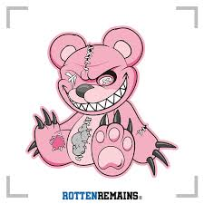 Zombie Teddy Bear Decal Pink Dead Cute Zombies Vinyl Sticker Lh Rotten Remains High Quality Stickers Decals
