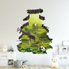 Giraffe Wall Decal Growth Chart Print Pink Vinyl Art For Nursery Uptown Aliexpress Sticker Grey Height Vamosrayos