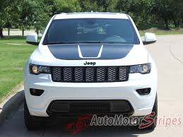 2011 2020 Jeep Grand Cherokee Hood Decal Trailhawk Center Stripe Kit Auto Motor Stripes Decals Vinyl Graphics And 3m Striping Kits