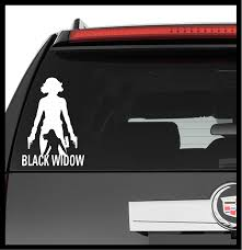 Amazon Com A Design World Decals For Cars Marvel Comics Avengers Black Widow Vinyl Decal Truck Car Sticker Laptop Computers Accessories