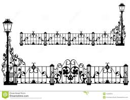 Antique Garden Fence Stock Vector Illustration Of Elegance 42266355