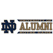 Notre Dame Fighting Irish 3 X 10 Alumni Die Cut Decal