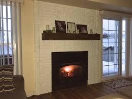 white brick fireplace diy build