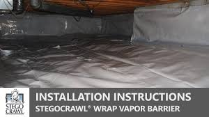 Stegocrawl Wrap Crawl Space Vapor Barrier Installation A Step By Step Guide Youtube
