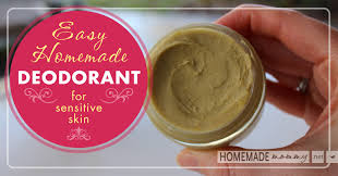 easy homemade deodorant for sensitive