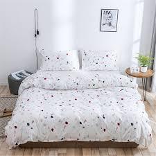 white rainbow polka dot duvet cover 100