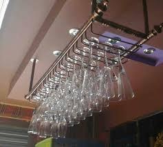 bar red wine goblet glass hanger holder