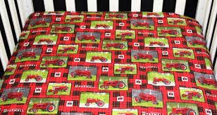 mini crib sheet red farmall tractors