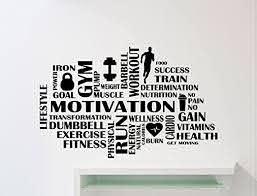 Amazon Com Gym Motivation Wall Decal Words Cloud Athletics Gymnastics Motivational Fitness Vinyl Sticker Home Sport Gym Art Decor Quote Inspirational Lettering Mural Fit Training Workout Vinyl Sticker 103gy Home Kitchen