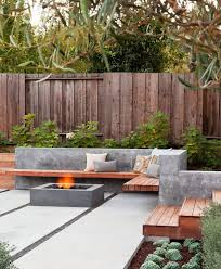 Concrete Patio Ideas Patio Contemporary With Concrete Wall Wood And Concrete Modern Backyard Landscaping Backyard Seating Area Small Backyard Landscaping