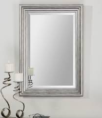 framed mirror 600mm stone grey