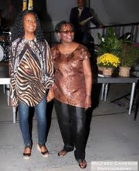NY-based Guyanese designers - travelled to Guyana for GFW (Left, Myrna  Patterson; Right, Gem Fraser - Photo by Wilfred Cameron | Guyana Graphic