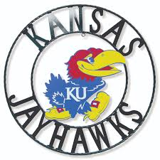 Kansas Jayhawks 18 Round Collegiate Sign