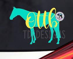 Ottb Horse Vinyl Car Tumbler Laptop Decal Thoroughbred Tb Etsy