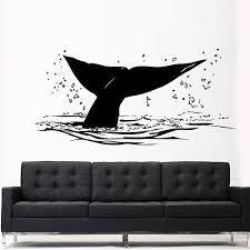 Wall Decal Decal Sticker Sea Ocean Orca Fish Whale Tail Animals Decal Stickersforlife