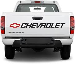 Amazon Com Orafol Bed Sticker Chevrolet Vinyl Decal Chevy Trucks Lettering Silverado Ss Tailgate Graphics Automotive