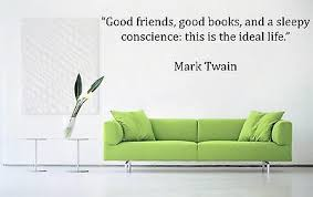 Never Argue Mark Twain Quote Wall Decal Sticker Highest Quality Big Or Small