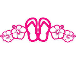 Flip Flop Decal Etsy