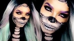 half skull makeup tutorial reattached