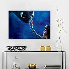 Amazon Com Wall Decor Stickers Hiccup Toothless How To Train Your Dragon N8 Office Poster W48 X L32 Inch Baby