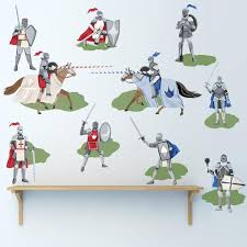 Medieval Knights Wall Decals Boys Wall Decals Removable Wall Sticker
