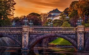 تحميل خلفيات قلعة ايدو 4k قصر طوكيو الإمبراطوري الخريف