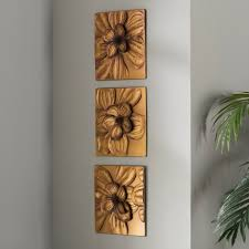 3 piece magnolia brown panel wall