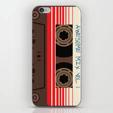 Awesome Mix Vol 1 New Hot 2018 Cd Love Cute Sticker Cover Iphone Pattern Casate Art Support Design Iphone Skin By Abllo Society6