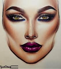 makeup face drawing at getdrawings