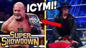 GOLDBERG BEATS THE FIEND! WWE Super Showdown 2020 ICYMI ...