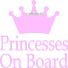 Princesses On Board Car Decal Vinyl Car Decals Window Etsy Car Decals Vinyl Princess Decal Vinyl Lettering