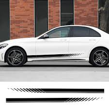 2 Piece Car Side Stripe Decal Stickers Official Car Mods