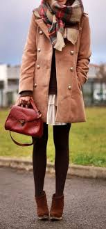 Cute pea coat outfits, Trench coat   Tights With Skirt Outfit   Casual  wear, Duffel coat, Pea coat