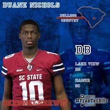 "SC State Athletics on Twitter: ""We would like to welcome Duane Nichols to  #KennelKrew17 #FearTheBite #NSD17… """