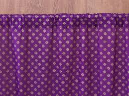 indian sari curtain purple gold