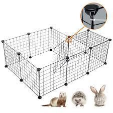 Desino Pet Playpen Portable Animal Crate Diy Metal Wire Kennel For Small Pet Indoor Extendable Pet Fence For Hamster Rabbi Rabbit Playpen Dog Playpen Playpen