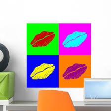 Warhol Lipps Wall Mural Wallmonkeys Com