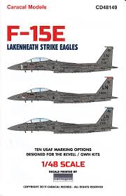 Amazon Com Caracal Models Carcd48149 1 48 Decals F 15e Strike Eagle Lakenheath Strike Eagles Waterslide Decal Sheet Toys Games