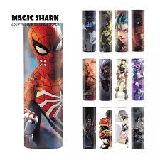 Magic Shark Dragon Lol Jinx Fighter Harley Quinn Pod Vape Case Cover Film Skin Sticker For Pax 3 Kit No Fade Phone Sticker Back Flim Aliexpress