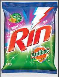 Rin Anti-Bacterial Detergent Powder, Packaging Size: 1 Kg ...