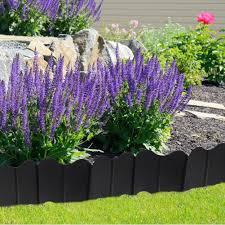 20pcs Set Garden Fence Edging Cobbled Stone Effect Pp Lawn Edging Plant Border Decorations Flower Bed Border Home Decor Fencing Trellis Gates Aliexpress
