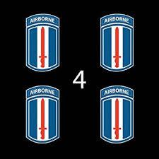 Amazon Com Us Army 173rd Airborne Brigade Ssi 3 4 Four Decal Sticker Lot Automotive