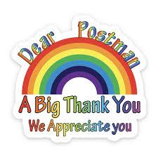 Thank You Nhs Sticker Rainbow Appreciation Expression Window Wall Sticker Car Shop Home Decal Walmart Com Walmart Com