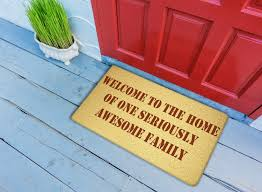 com welcome to the house of awesome family doormat funny