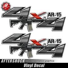 4x4 Ar 15 Assault Rifle Gun Decals Aftershock Decals